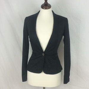 Ted Baker Black Peplum Blazer Suit Jacket Sz 0